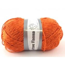 Cotone viscosa col.arancio