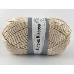Cotone viscosa col.beige