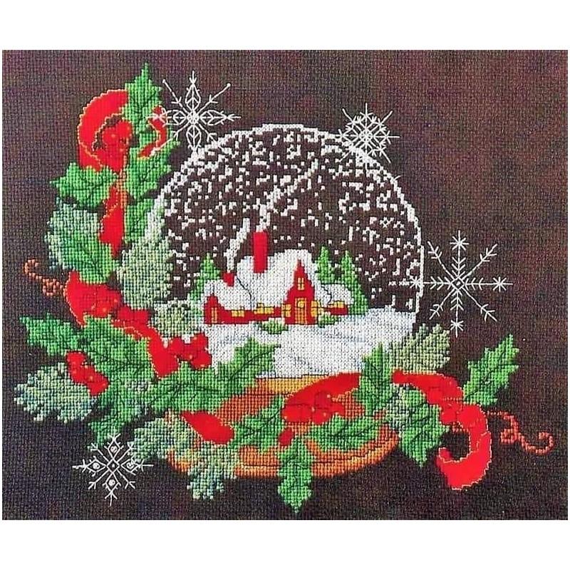 Piccolo Schemi Punto Croce Natale.Quadro Natalizio