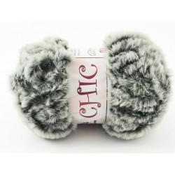 CHIC pelliccia grigio sfumato