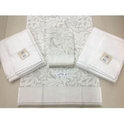 Lotto 3 coppie asciugamani DMC