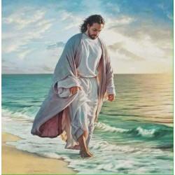 Quadro Gesù in riva al mare